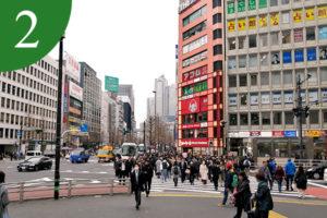 アクセス方法②―新宿駅交差点前